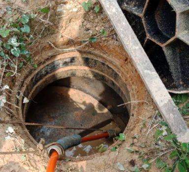 Infra Work – Flushing work for Manhole Pipe